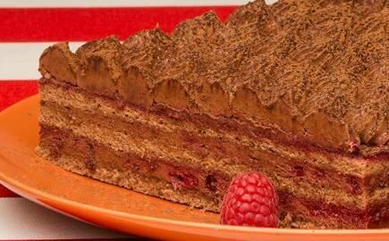 Торт Трюфель с малиной